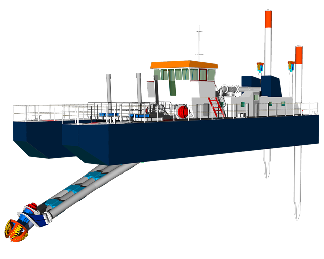 self propelled marina dredger
