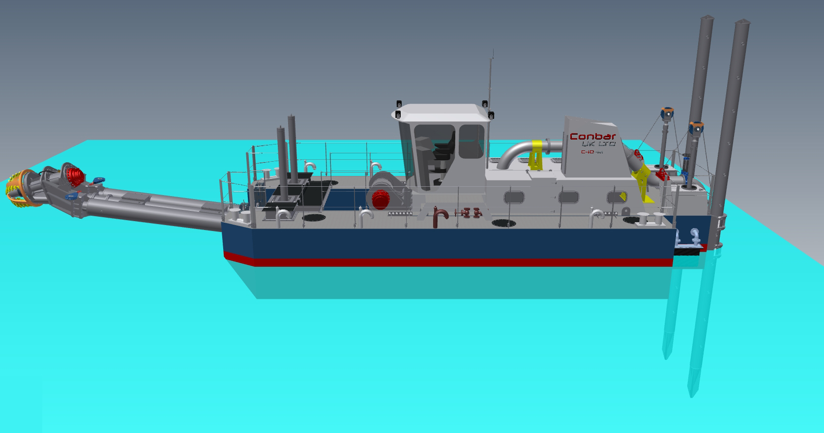 self propelled marina dredger 13