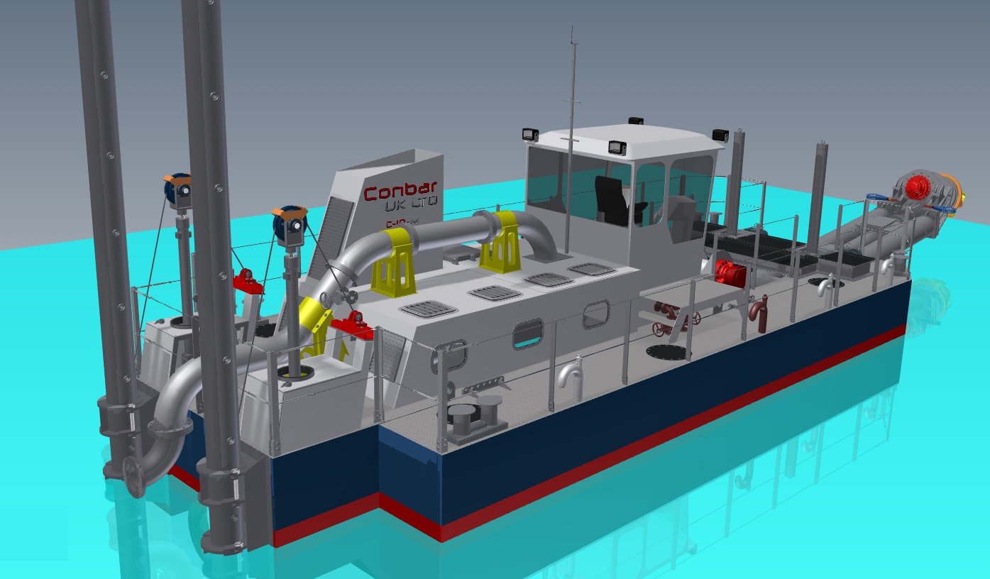 self propelled marina dredger 5